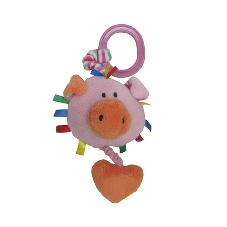 Купить Игрушка-погремушка мягкая Coool Toys «Хрюша»