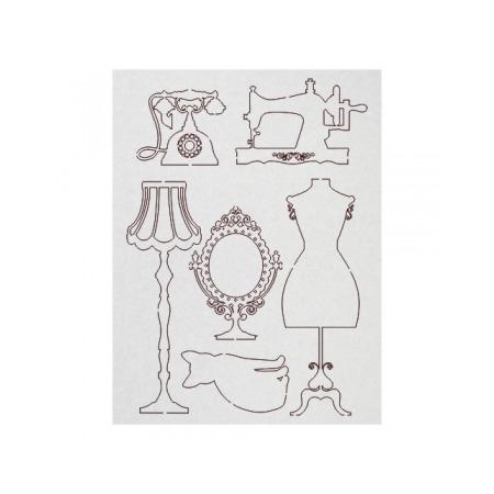 Купить Чипборд Ars Hobby «Дамские штучки в ретро-стиле»