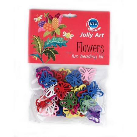 Купить Набор цветных деревянных подвесок RTO «Flowers 4»
