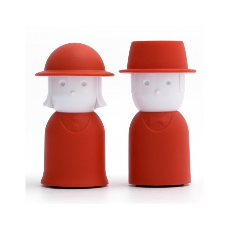 Купить Солонка и перечница Qualy Mr. Pepper & Mrs. Salt