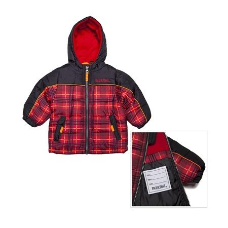 Купить Куртка утеплённая с капюшоном для мальчика PacificTrail Шотландка-black