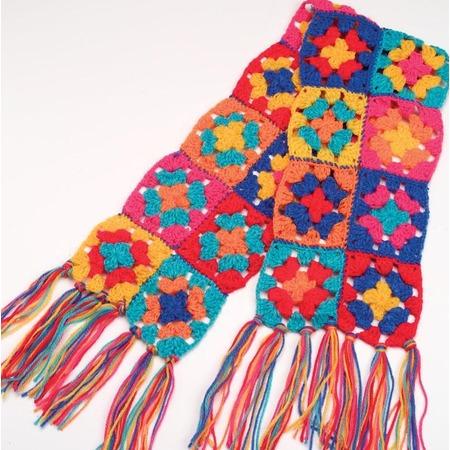 Купить Набор для вязания крючком ALEX «Модные вещи из вязаных квадратов»
