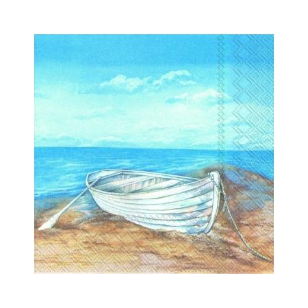 Купить Салфетки бумажные для декупажа IHR «Лодка на берегу»