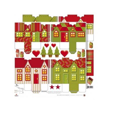 Купить Бумага для скрапбукинга Rayher «Новогодние домики»