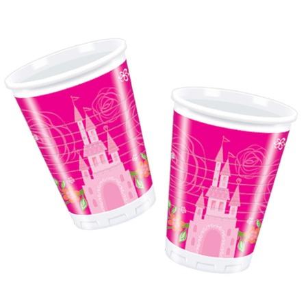 Купить Стаканы пластиковые Procos «Принцессы Disney - летний замок»