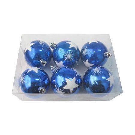 Купить Шары новогодние Irit «Синие звезды»