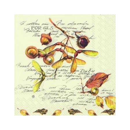 Купить Салфетки бумажные для декупажа IHR «Осенний гербарий»