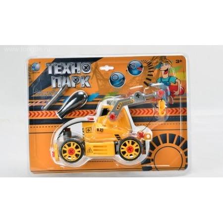 Купить Конструктор Tongde В72180 Трактор на гусеницах с подъемником