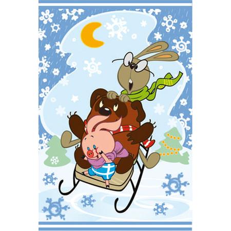 Купить Набор из 2-х полотенец Непоседа «Винни Пух и Новый год»