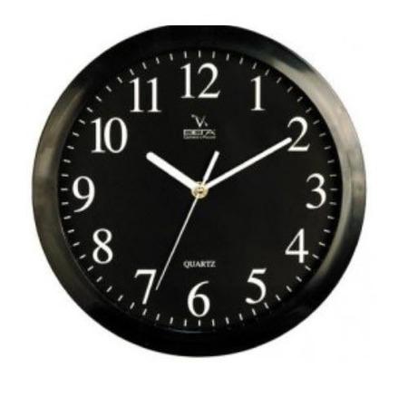 Купить Часы настенные Вега П 1-6/6-6 Черные Арабские Классика