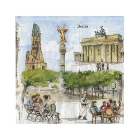 Купить Салфетки бумажные для декупажа IHR «Берлин»