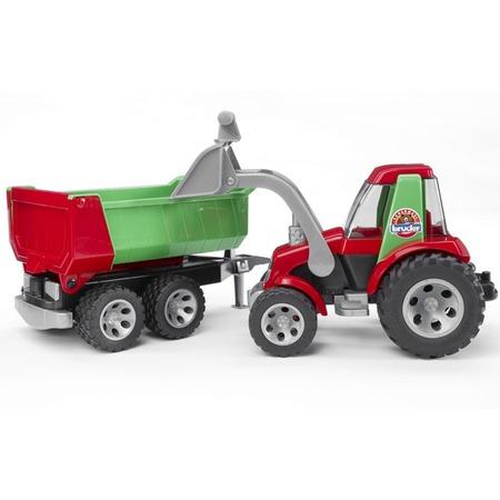 Купить Трактор с ковшом и прицепом Bruder Roadmax 20-116