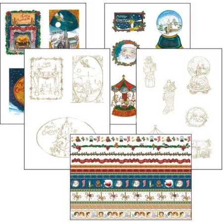 Купить Набор бумаги для парчмента Pergamano Канун Рождества