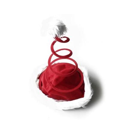 Купить Шапка новогодняя Снегурочка «Пружинкой»