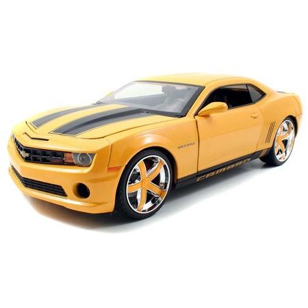 Купить Модель автомобиля 1:18 Jada Toys Camaro Lopro edition Yellow/BLK Stripes 2010