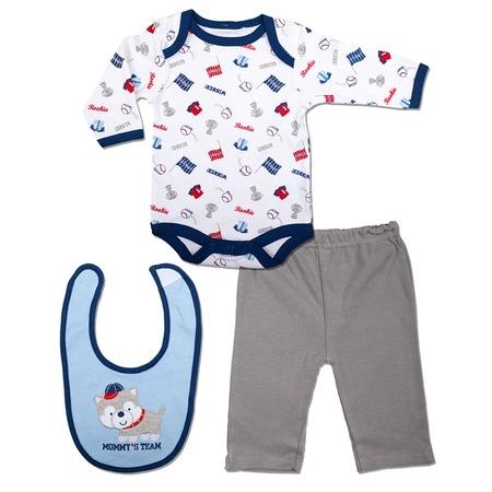 Купить Комплект для мальчика: боди со штанишками и нагрудник Bon Bebe FAR-145B29
