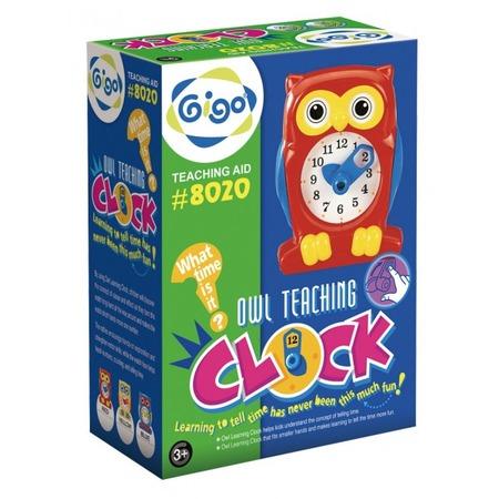 Купить Конструктор развивающий Gigo «Часы сова». В ассортименте