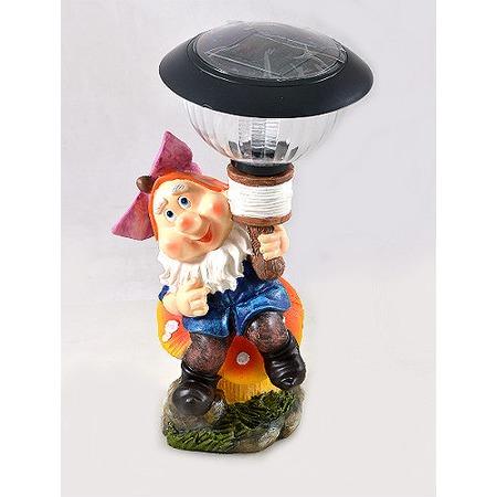 Купить Фонарь декоративный Valencia «Гном на грибе»