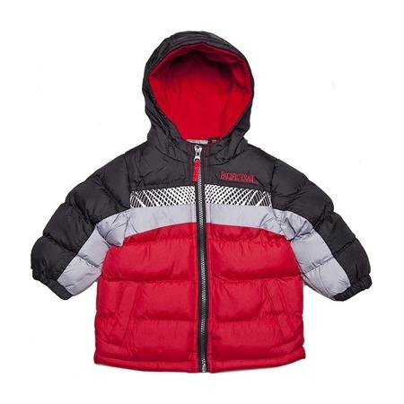 Купить Куртка утеплённая с капюшоном и светоотражающими полосками PacificTrail Red