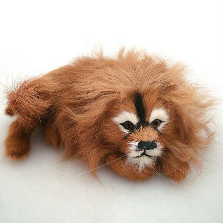 Купить Сувенир из меха «Лев лежащий»