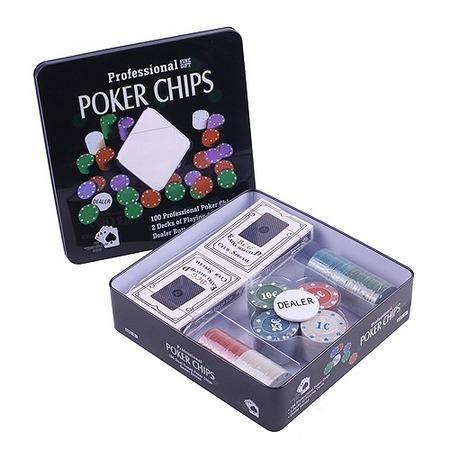 Купить Набор для покера Ningbo Holdem Light с номиналом, 100 фишек