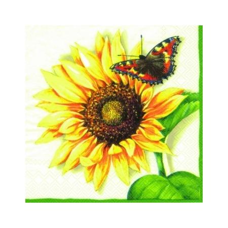 Купить Салфетки бумажные для декупажа IHR «Солнечная бабочка»