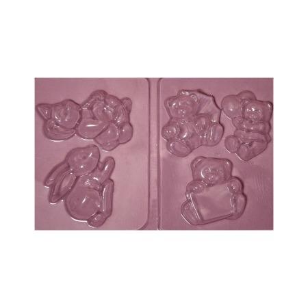 Купить Набор пластиковых формочек для литья Ars Hobby «Плюшевые медведи»