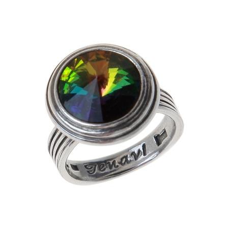 Купить Кольцо Jenavi Эмбаси. Вставка: Swarovski разноцветный кристалл