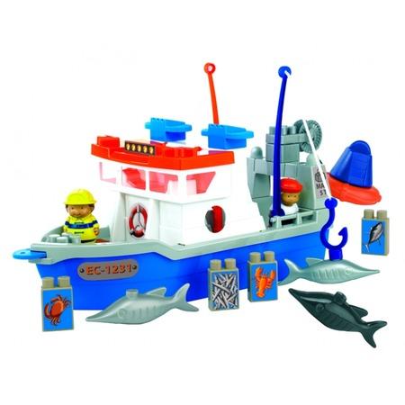 Купить Конструктор Ecoiffier «Рыболовецкое судно»