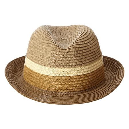 Купить Шляпа детская Appaman Color Block Fedora. Цвет: коричневый