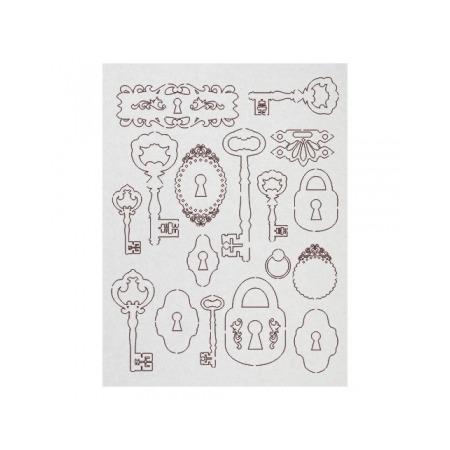 Купить Чипборд Ars Hobby «Замочные скважины, ключи, замки»