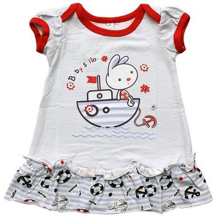 Купить Платье IDEA KIDS «Морская прогулка» с принтом