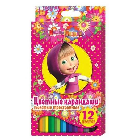 Купить Набор цветных карандашей Маша и Медведь 22291