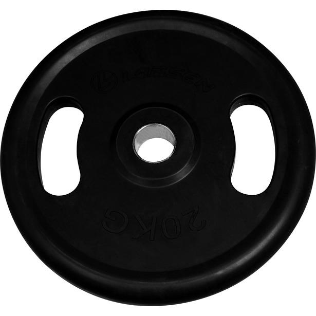 фото Диск обрезиненный с ручками Larsen NT121N. Вес в кг: 25 кг. Диаметр отверстия диска: 50 мм