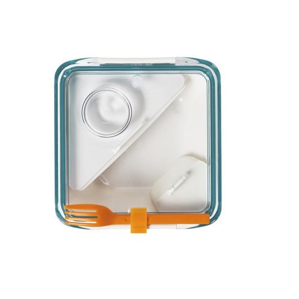 фото Ланч-бокс Black+Blum Box Appetit. Цвет: белый, бирюзовый