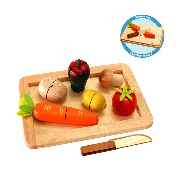 фото Набор игровой для девочек I'm toy «Овощи на подносе с ножом»