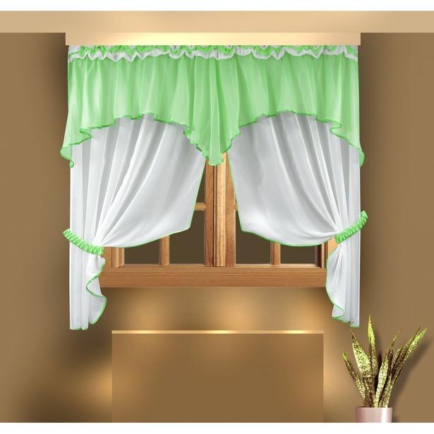фото Комплект штор Zlata Korunka Б026. Цвет: салатовый