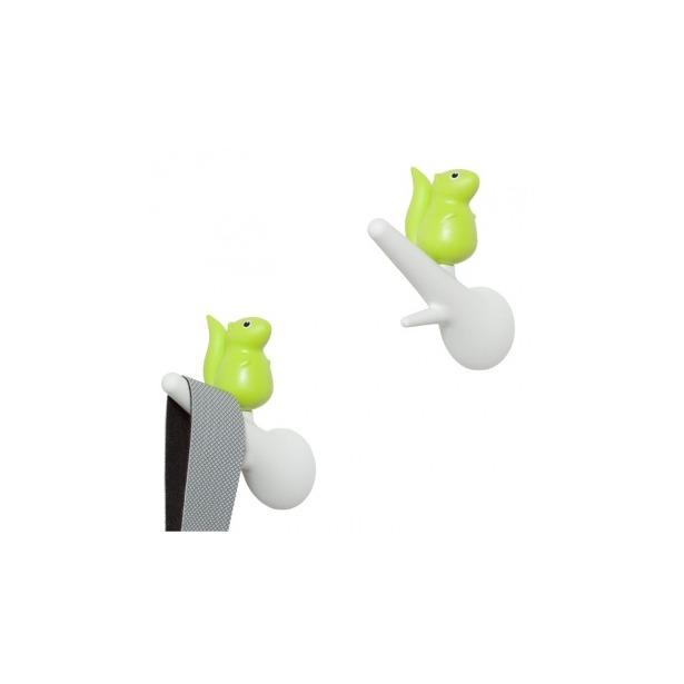 фото Вешалки настенные Qualy Squirrel. Цвет: зеленый, белый