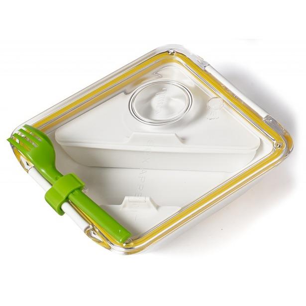 фото Ланч-бокс Black+Blum Box Appetit. Цвет: белый, желтый