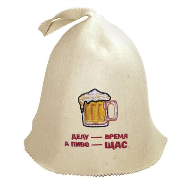 фото Шапка Банные штучки «Делу - время а пиво - щас»