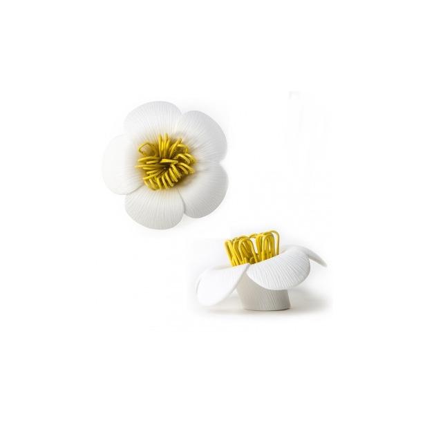 фото Магнит для скрепок Qualy Blossom. Цвет: белый