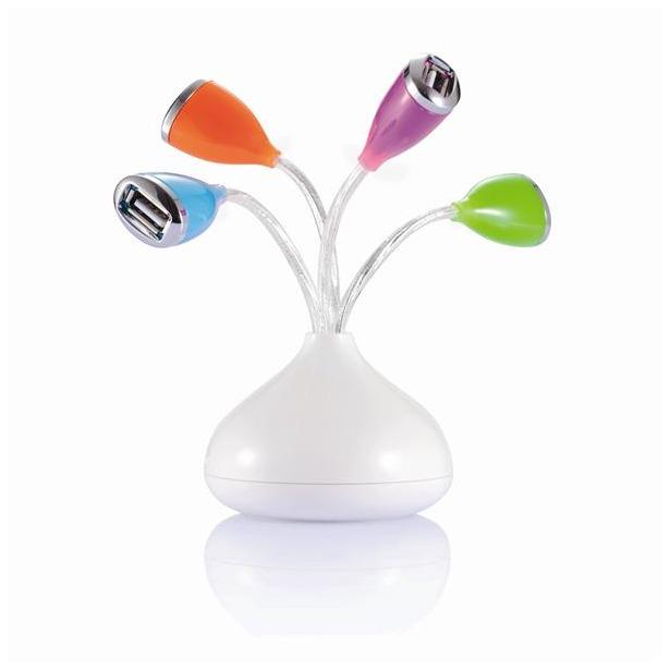фото Переходник USB 4-х портовый Loooqs Flower