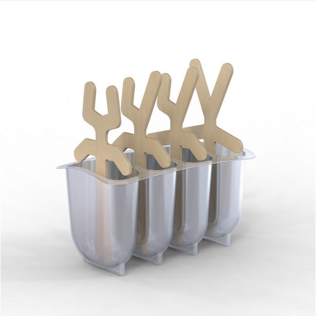 фото Формы для замороженных десертов Mustard Lollypop Men