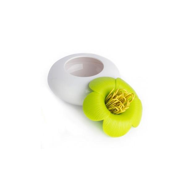 фото Шкатулка для мелочей Qualy Blossom. Цвет: белый, зеленый