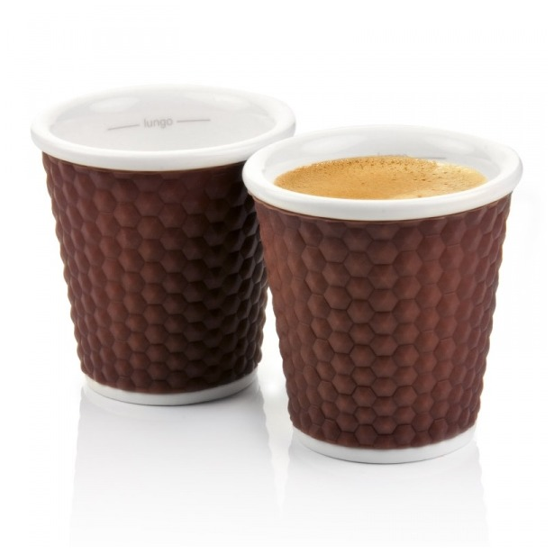 фото Набор чашек Les Artistes-Paris Honeycomb. Цвет: коричневый. Объем: 100 мл