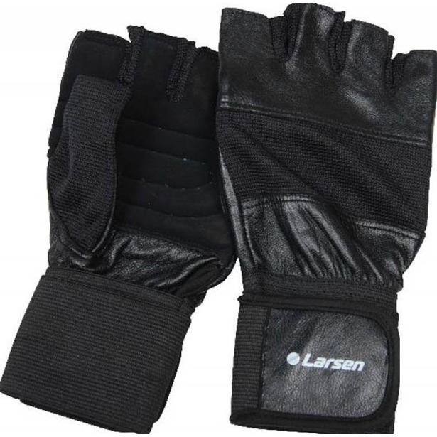 фото Перчатки для тяжелой атлетики и фитнесса Larsen NT502. Размер: XL