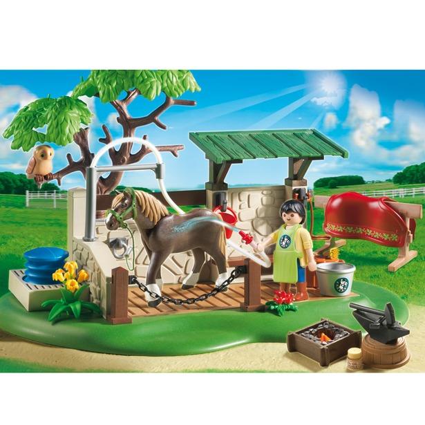 фото Мойка для лошади с лошадью Playmobil 5225pm
