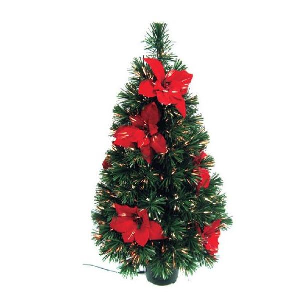 фото Ель декоративная Снегурочка «С красными цветами»
