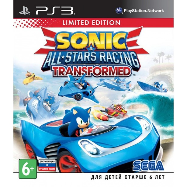 фото Игра для ps3 SONY Sonic & All-Star Racing Transformed. Limited Edition