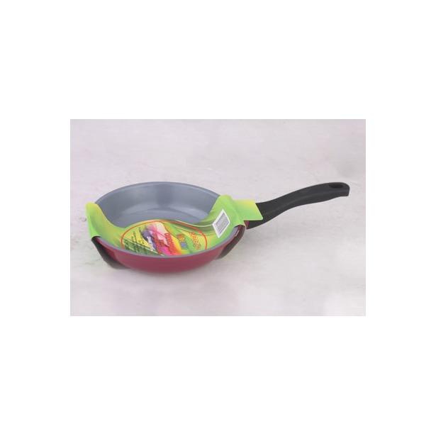 фото Сковорода литая Keraflon Dream без крышки. Диаметр: 26 см. Цвет: серый, бордовый